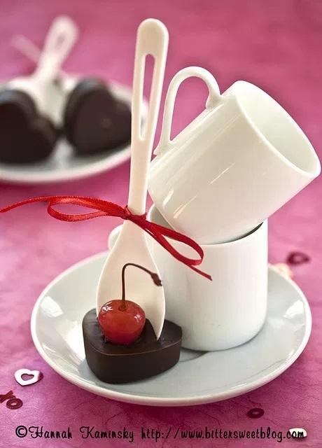 Cherry Hot Chocolate Spoons