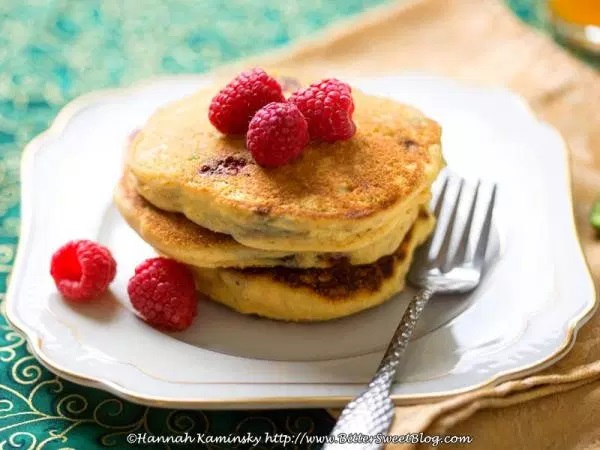 Raspberry-Jalapeno Cornbread Pancakes