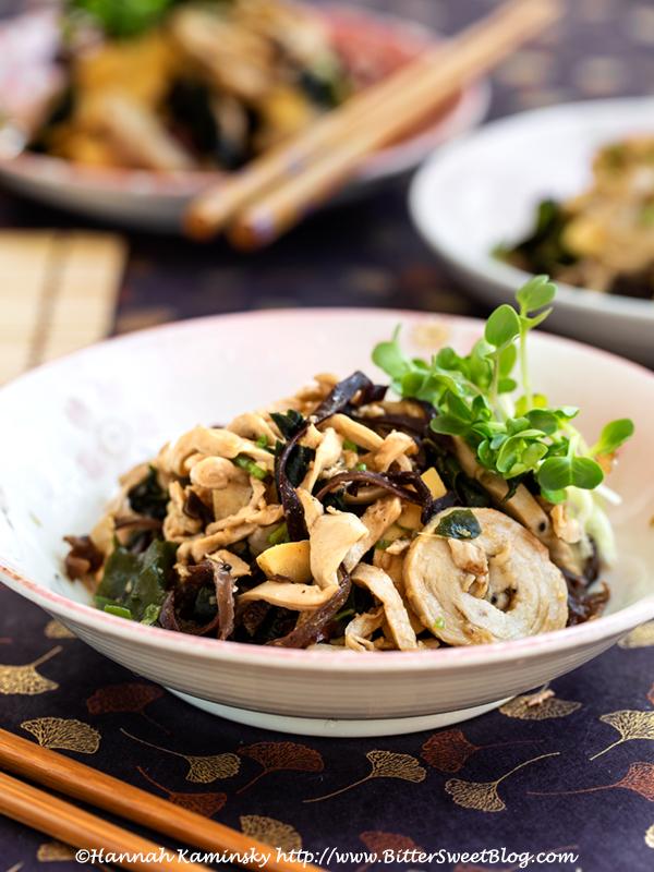 Chuka Ika Sansai (Japanese Vegan Squid Salad)
