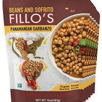 FILLO'S Panamanian Garbanzo Beans, Ready to Eat Sofrito Beans, 6 Count, 10 Ounces Each, Seasoned with Fresh Vegetables, Microwavable, Non-GMO, Vegan, Plant Protein