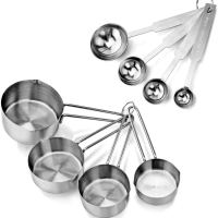 Stainless Steel Measuring Spoons and Cups Combo