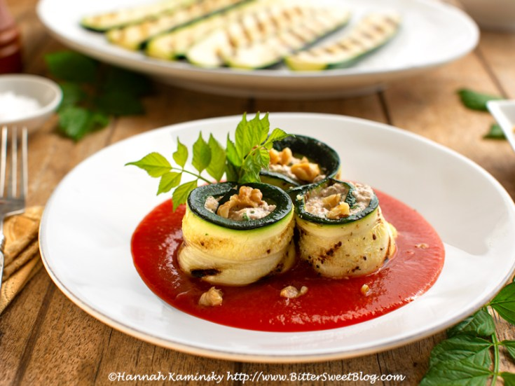 Creamy Zucchini Pinwheels