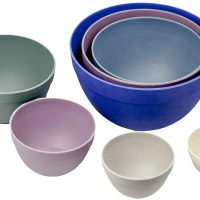 Bamboozle Nesting Bowls Set for Mixing and Serving, Dishwasher Safe, 7 Piece, Thistle
