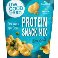 The Good Bean Crispy Favas Plus Peas, Sea Salt, 6 Ounce (Pack of 6)