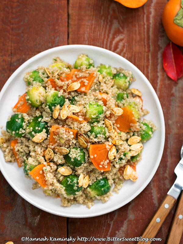 Toasted Warm Quinoa Salad with Browned Butter Vinaigrette