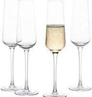 GoodGlassware Champagne Flutes (Set Of 4) 8.5 oz