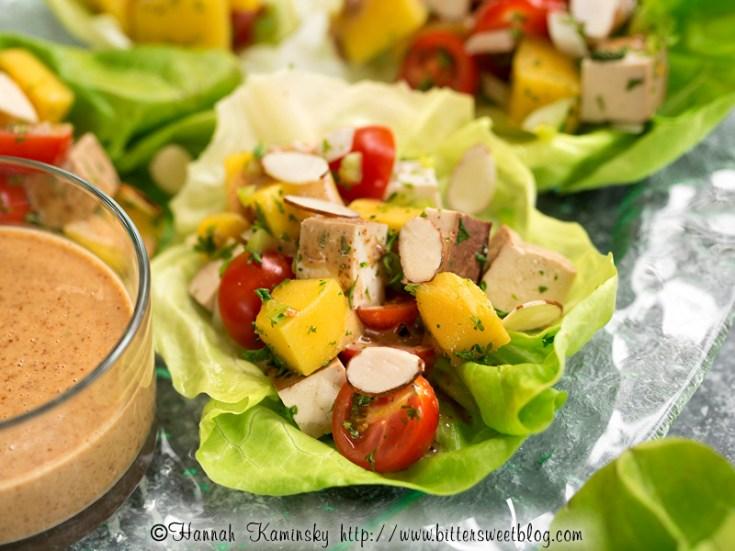 Thai Mango-Tofu Lettuce Cups