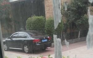 Policemen outside Korean church