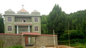 Gospel Hall in Meisha village, before the removal of the cross