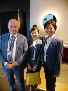 Massimo Introvigne with two refugees from The Church of Almighty God who offered their testimonies at the OSCE meeting