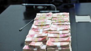 Confiscated money (taken from the Internet)