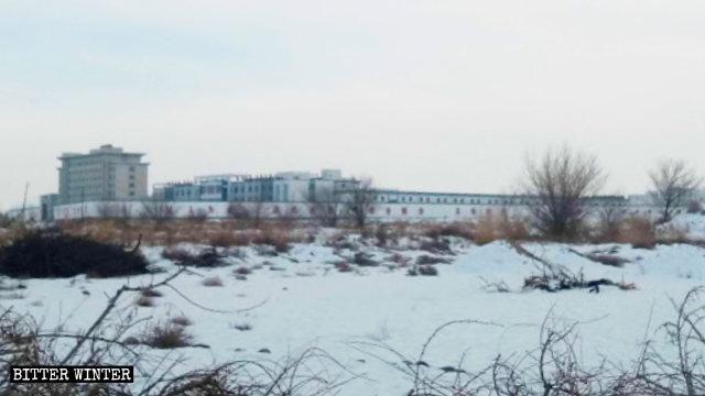 A prison where Uyghurs are detained in Gansu's Jiuquan city.