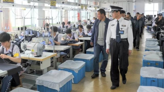 An inspection at a prison workshop