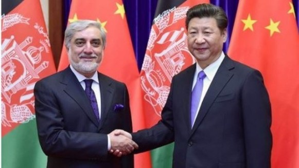Xi Jinping with Afghanistan's Chief Executive Officer, Abdullah Abdullah. Source: PRC Ministry of Foreign Affairs.