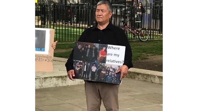 Dilnaz's father Kerim. Rumors many of his relatives have been sentenced to draconian prison terms are as yet unconfirmed by the Chinese government. Kerim is demanding proof of life.