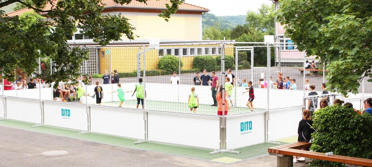 Fußballkäfig Realschule plus
