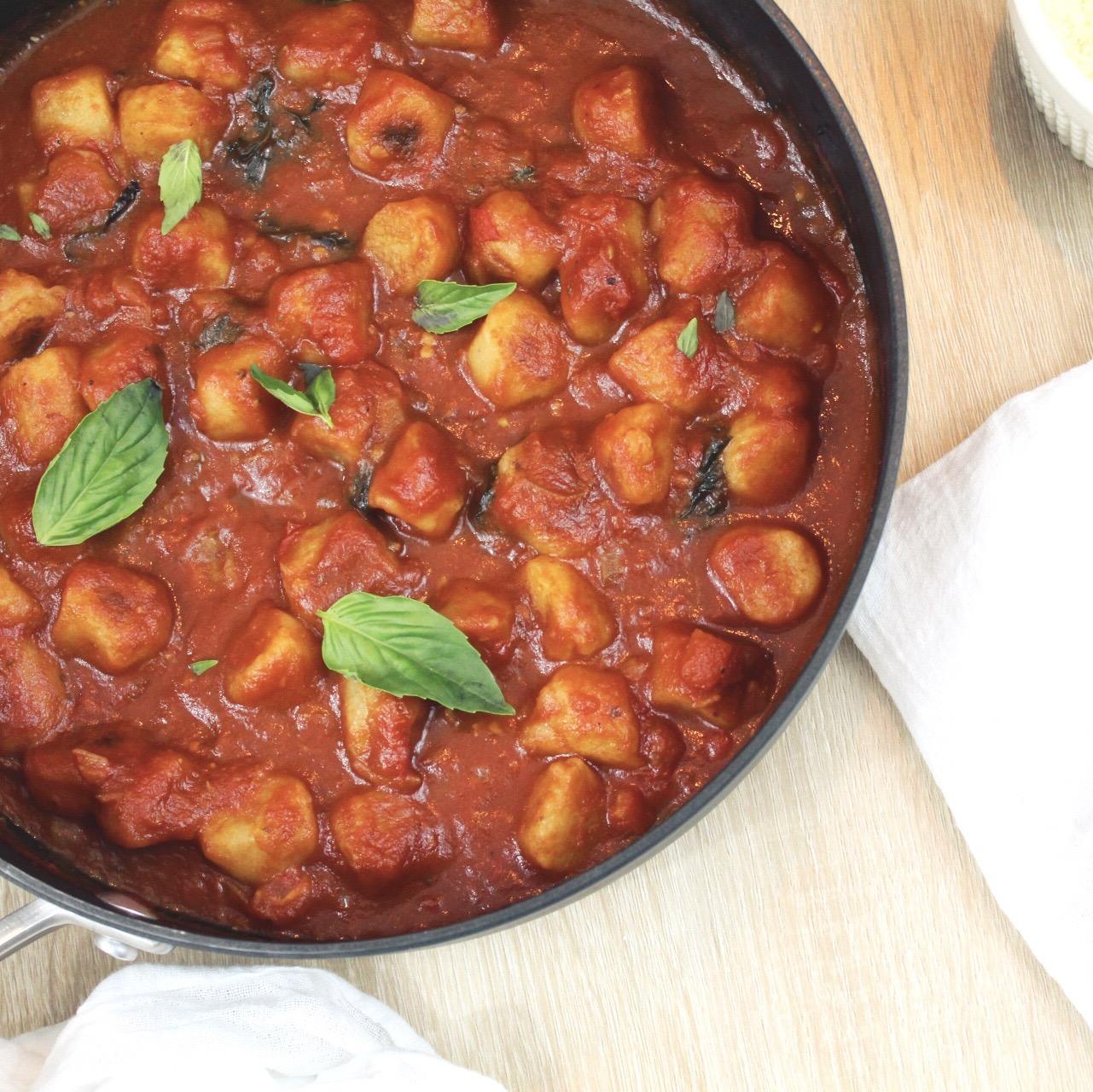 Cauliflower Gnocchi with Marinara Sauce