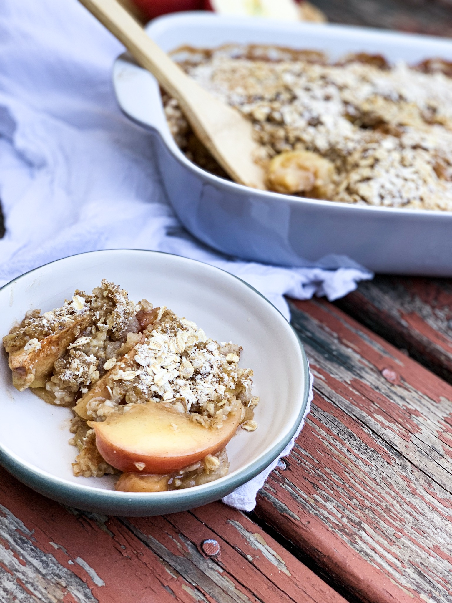 Apple Crisp (with steel cut oats)