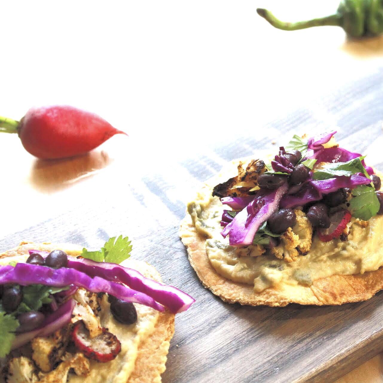 Jalapeño Hummus Tostada