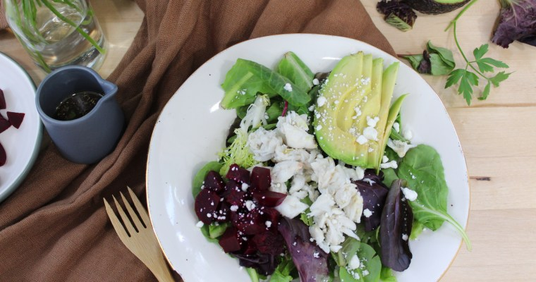 Avocado Beet Salad with Homemade Balsamic Vinaigrette