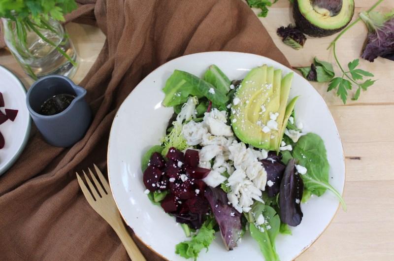 Avocado Beet Salad with Homemade Balsamic Vinaigrette