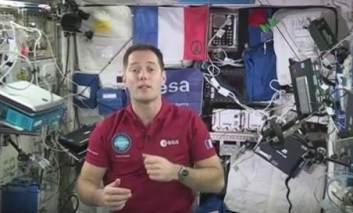 """VIDEO Mesajul astronautului Thomas Pesquet de pe Staţia Spaţială Internaţională pentru cei şapte elevi din Paşcani: """"Aţi făcut o treabă excelentă!"""""""