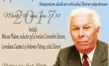 Simpozion Constantin Ciopraga la Pașcani