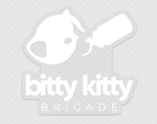 White Bitty Kitty Logo