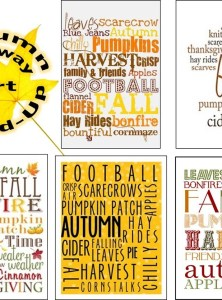 Autumn Subway Art Round-Up (FREE PRINTABLES!)