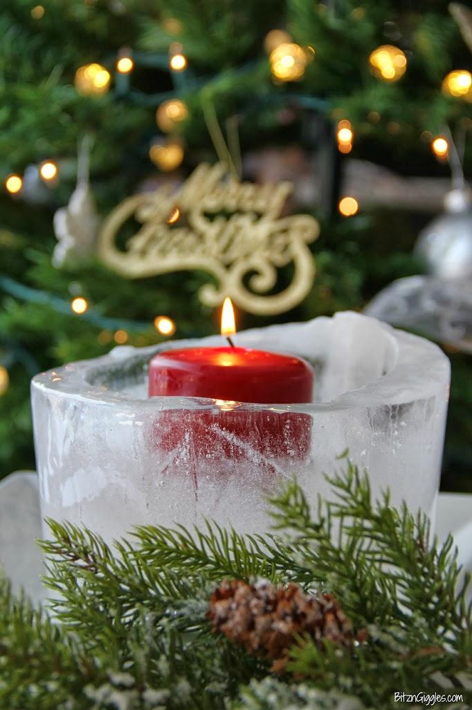 Christmas Ice Luminary
