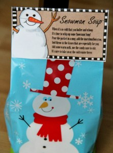 Snowman Soup Treat Bags
