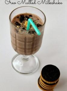 Oreo Malted Milkshake