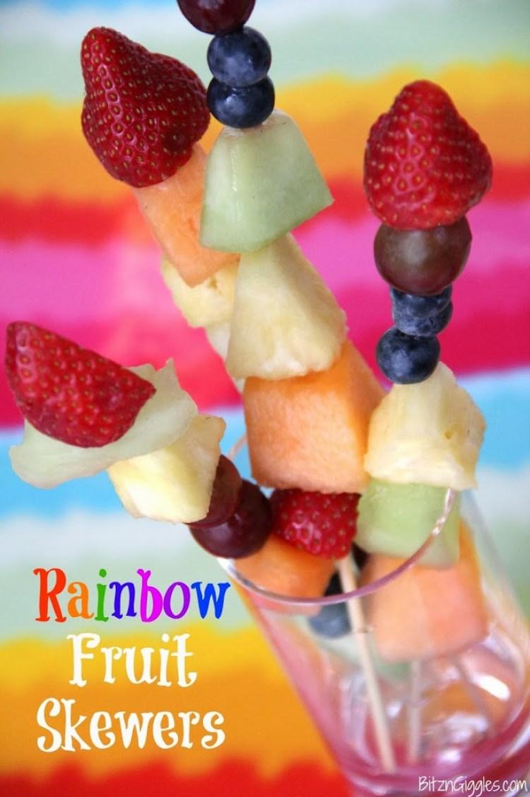 Rainbow Fruit Skewers