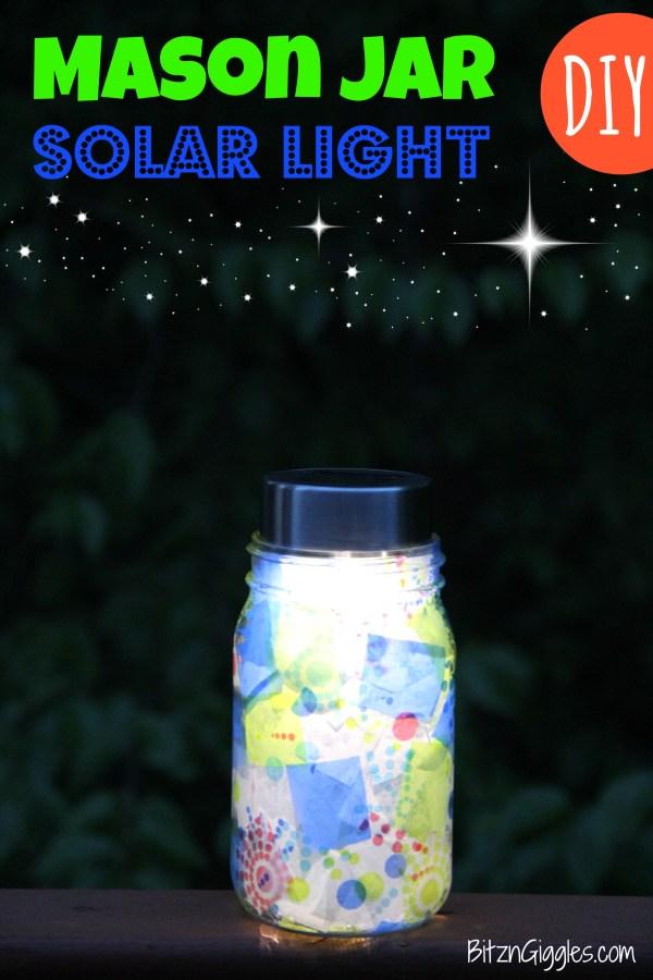 Mason Jar Solar Light - Bitz & Giggles