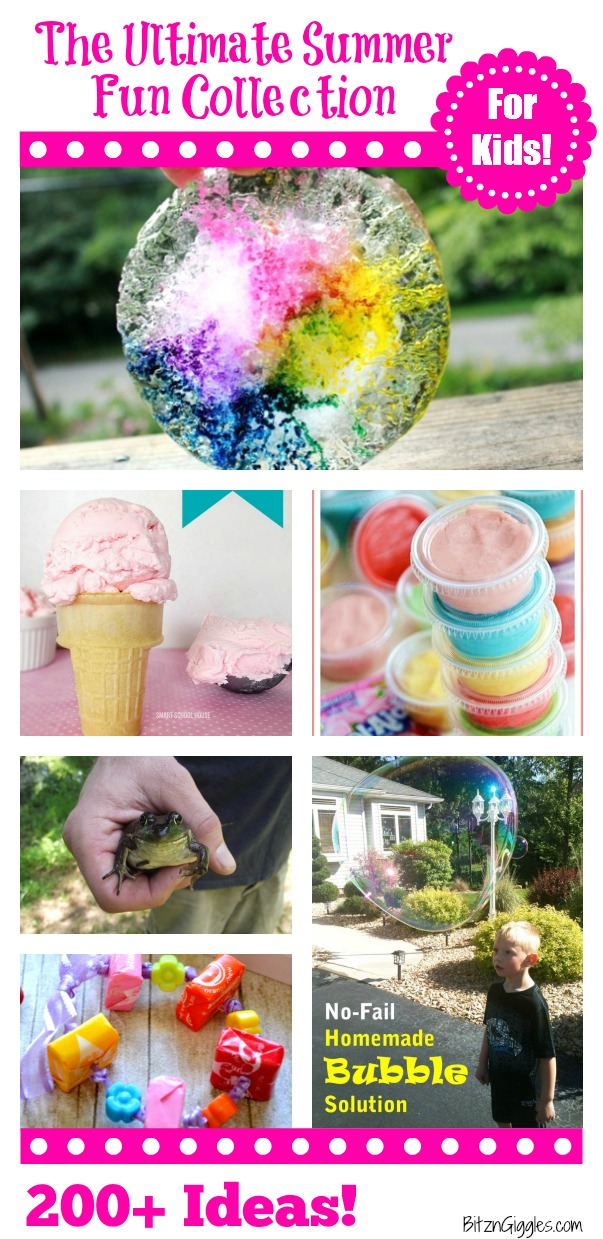 The Ultimate Summer Fun Collection for Kids! With over 200 ideas to keep the kiddos busy this summer!