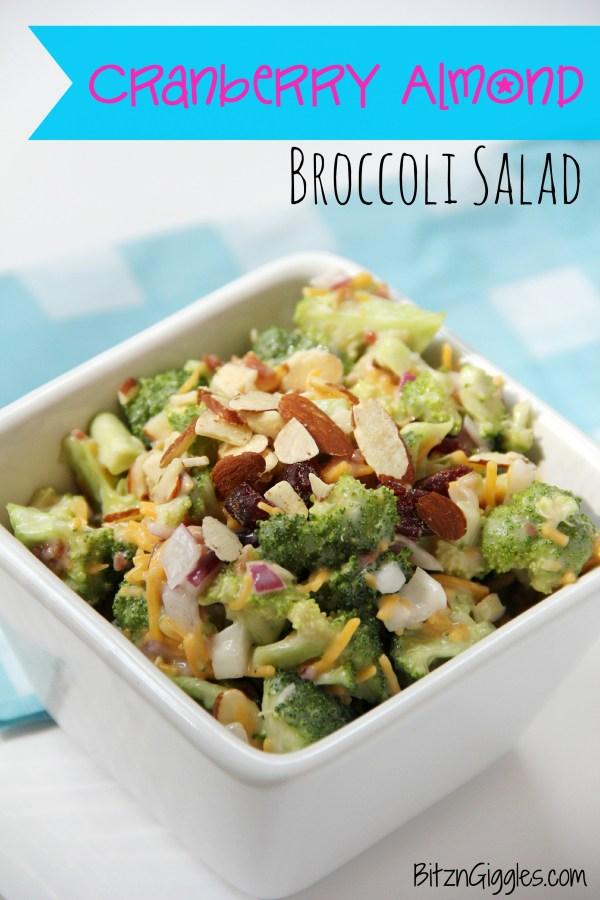 Cranberry Almond Broccoli Salad - Bitz & Giggles