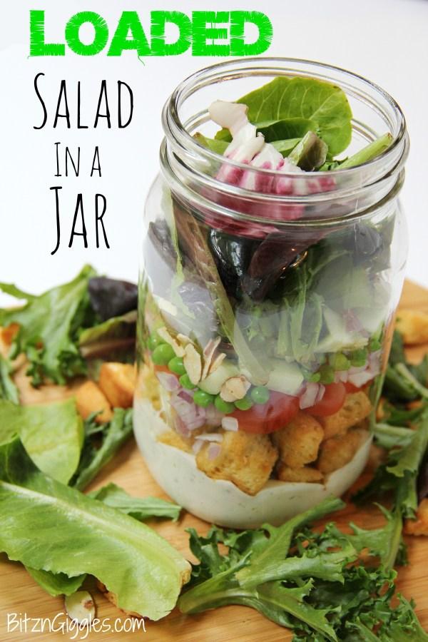 Loaded Salad in a Jar