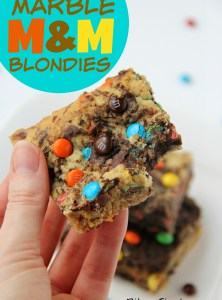 Marble M&M Blondies