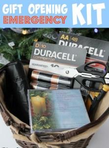 Gift Opening Emergency Kit