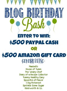 Blog Birthday Bash Giveaway