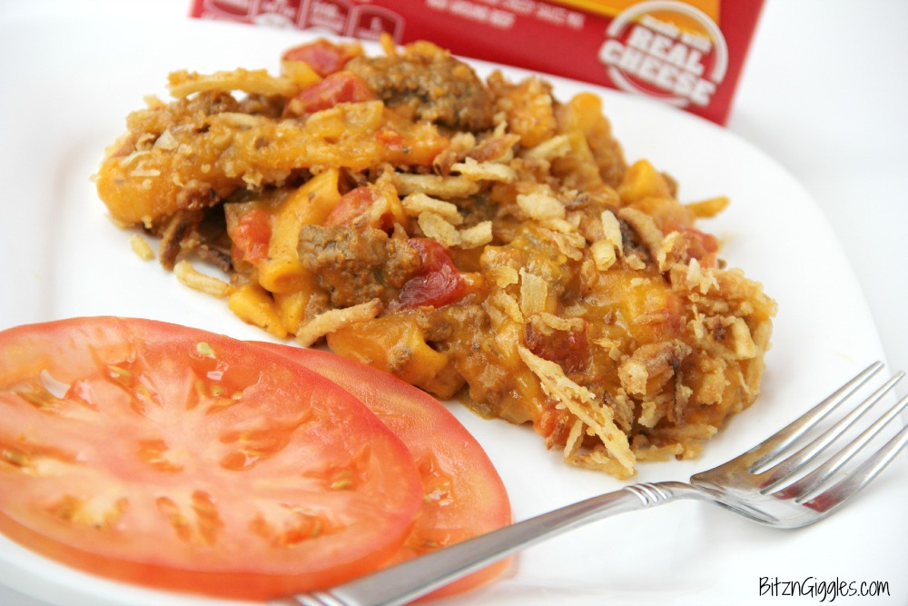 Hamburger Helper Casserole - A delicious, hearty casserole that goes together in minutes with the help of Hamburger Helper!