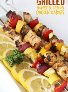 Grilled Honey & Lemon Chicken Kabobs