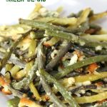 Cheesy, roasted green beans bursting with flavor the entire family will enjoy!