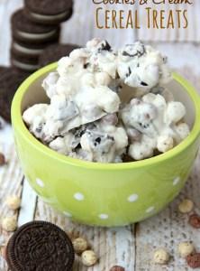 Cookies & Cream Cereal Treats