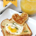 Easy Egg in a Hole - Such a fun way to enjoy eggs and toast! Make it extra special by using a heart-shaped cookie cutter!