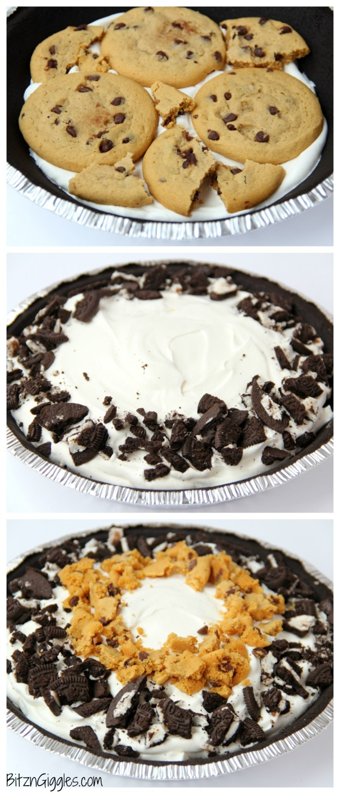 Milk and Cookies Pie - Bitz & Giggles