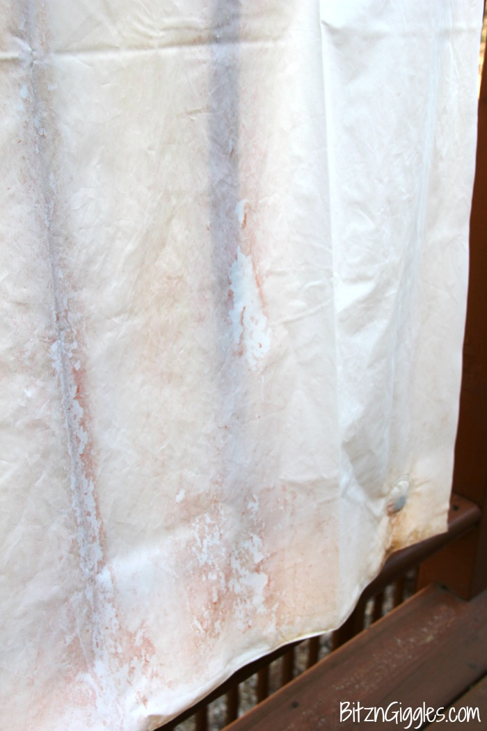 how to clean a vinyl shower curtain