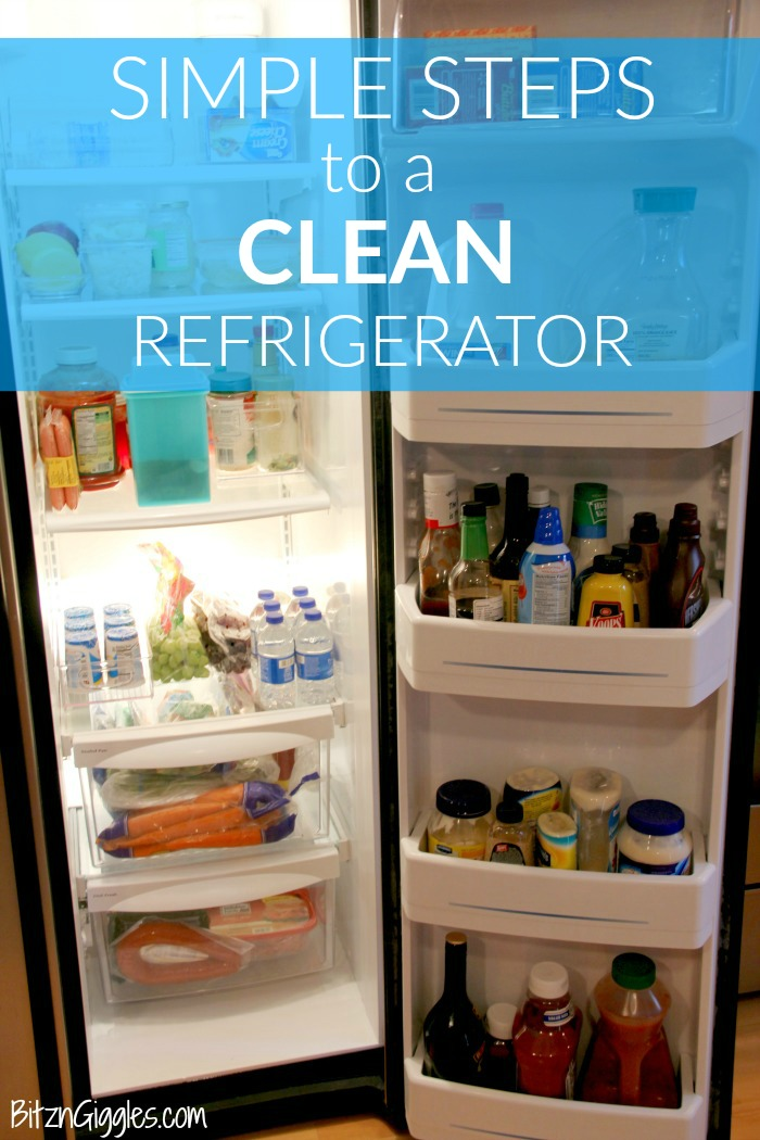 Simple Steps to a Clean Refrigerator - Deep cleaning and organizing the fridge isn't always a ton of fun but by following a few simple steps you'll be opening the door for friends and neighbors because you're proud of what's inside!