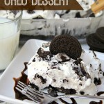 Cookies and Cream Oreo Dessert - For all the cookie lovers out there, this no-bake dessert is going to be a family favorite!!