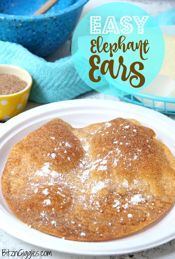 Easy Elephant Ears - All the goodness you get at the county fair just faster and easier!! You can make this treat in under 15 minutes!